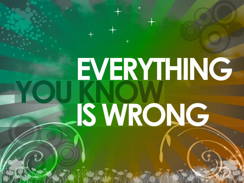everythingyouknowiswrong