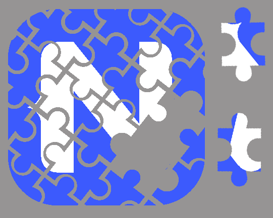 A NativeScript Logo in Puzzle Form