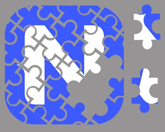 A NativeScript Logo in Puzzle Form